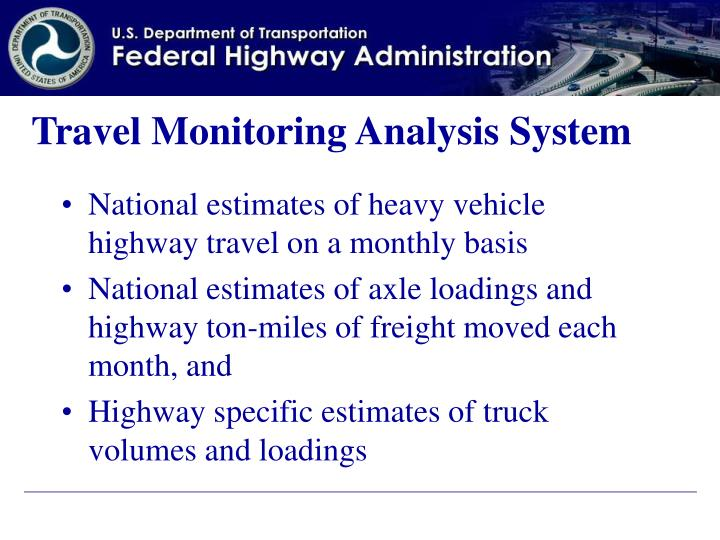 Travel Monitoring Analysis