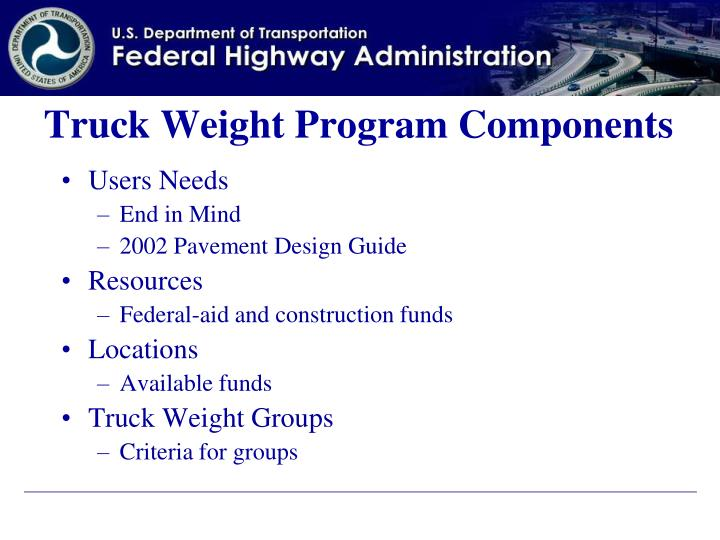 Truck Weight Program