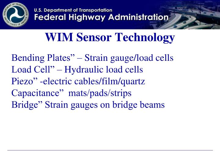 WIM Sensor Technology