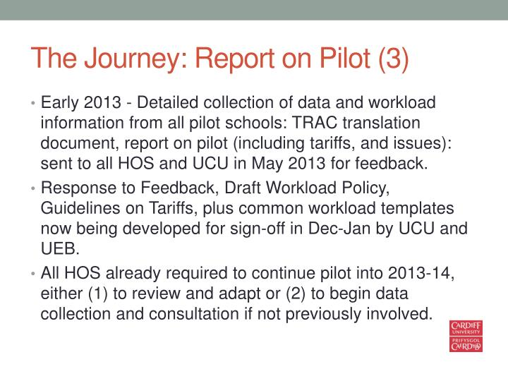 The Journey: Report on Pilot (3)