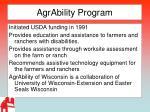 agrability program