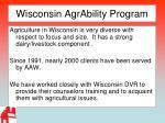 wisconsin agrability program
