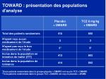 toward pr sentation des populations d analyse