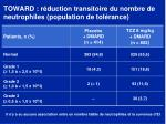 toward r duction transitoire du nombre de neutrophiles population de tol rance1
