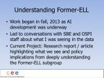 understanding former ell