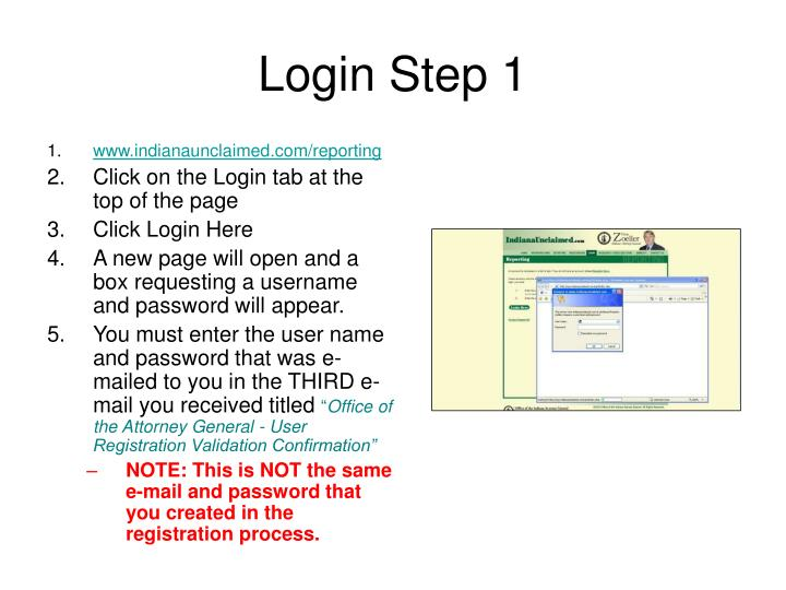 Login Step 1