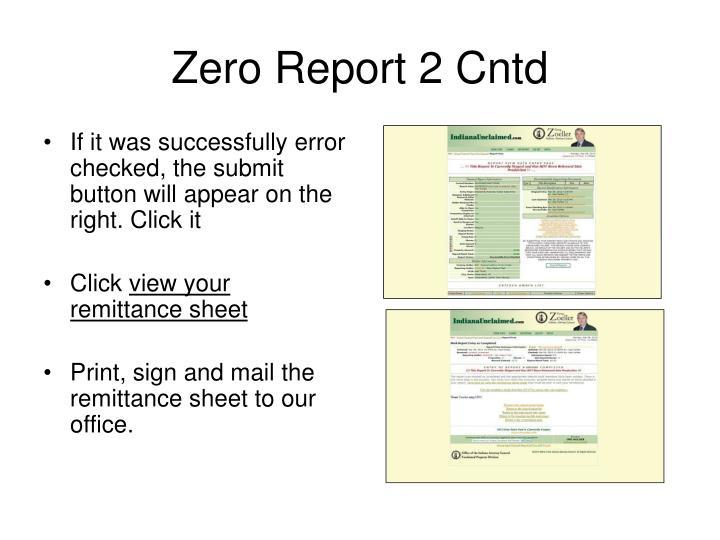 Zero Report 2 Cntd
