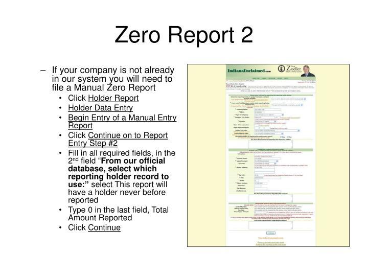 Zero Report 2
