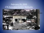february 20 2003 cta acoustics corbin kentucky