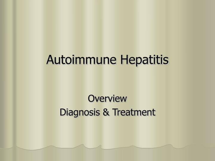 autoimmune hepatitis n.