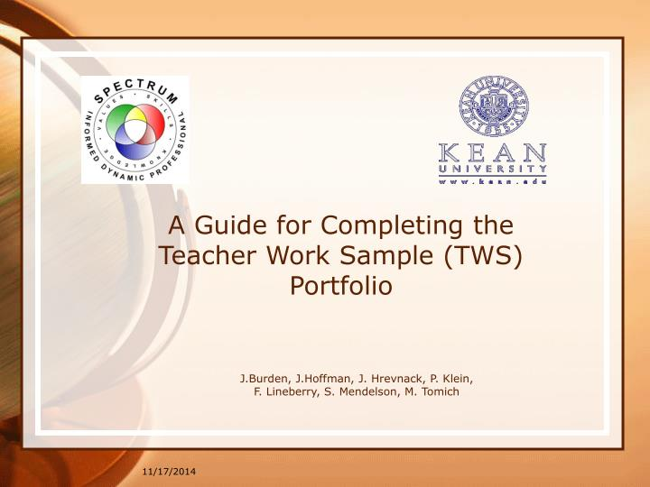a guide for completing the teacher work sample tws portfolio n.