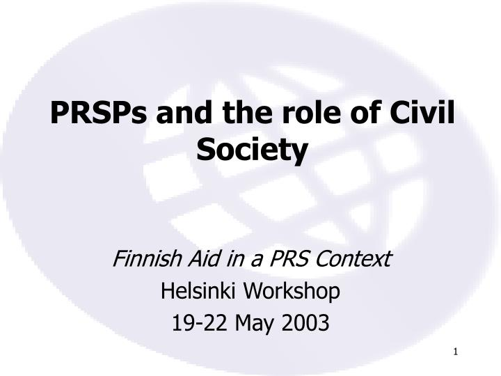 prsps and the role of civil society n.
