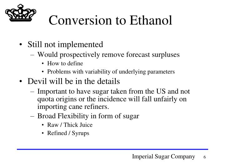Conversion to Ethanol