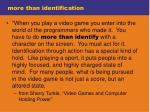 more than identification