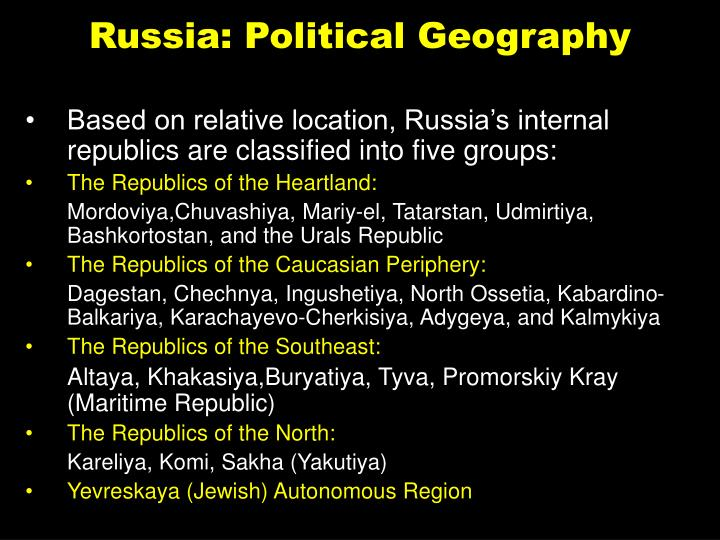 Russia: Political Geography