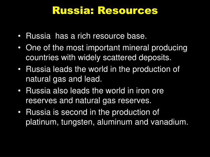 Russia: Resources