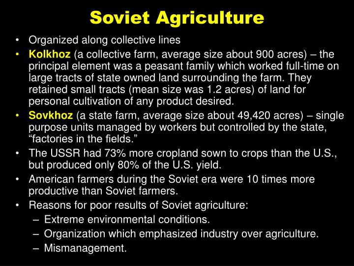 Soviet Agriculture