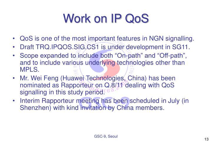 Work on IP QoS