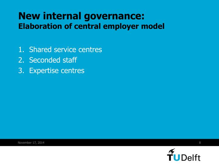 New internal governance: