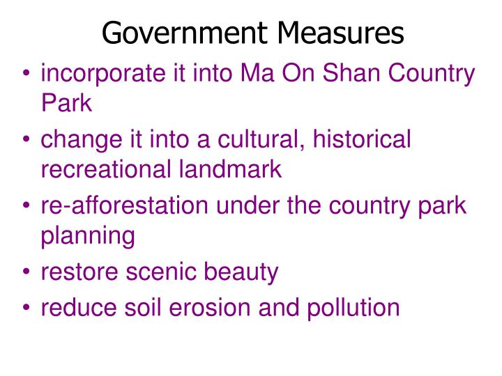 Government Measures