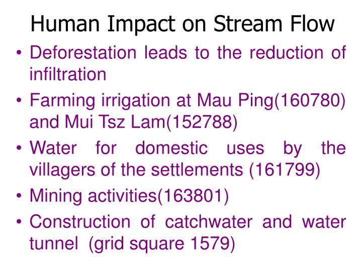 Human Impact on Stream Flow
