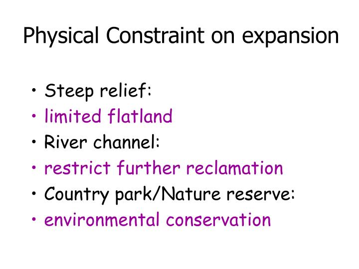 Physical Constraint on expansion