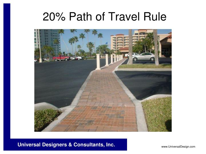 20% Path of Travel Rule