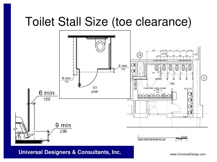 Toilet Stall Size (toe clearance)
