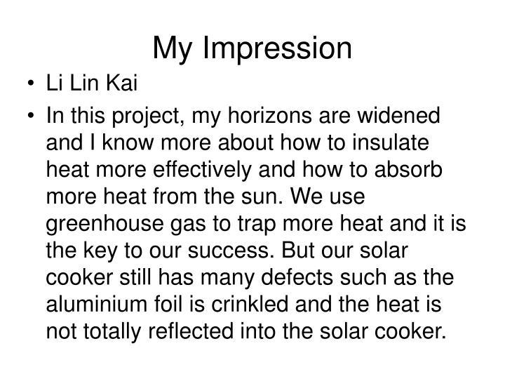 My Impression