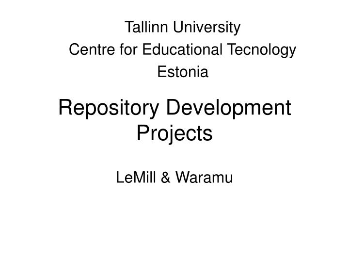 Repository development p rojects