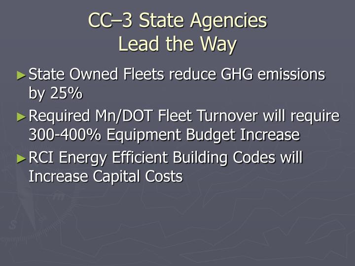 CC–3 State Agencies