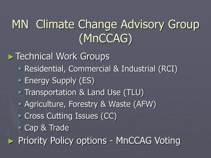 MN  Climate Change Advisory Group (MnCCAG)