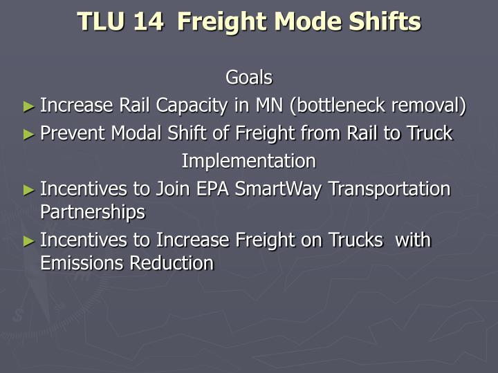 TLU 14 Freight Mode Shifts