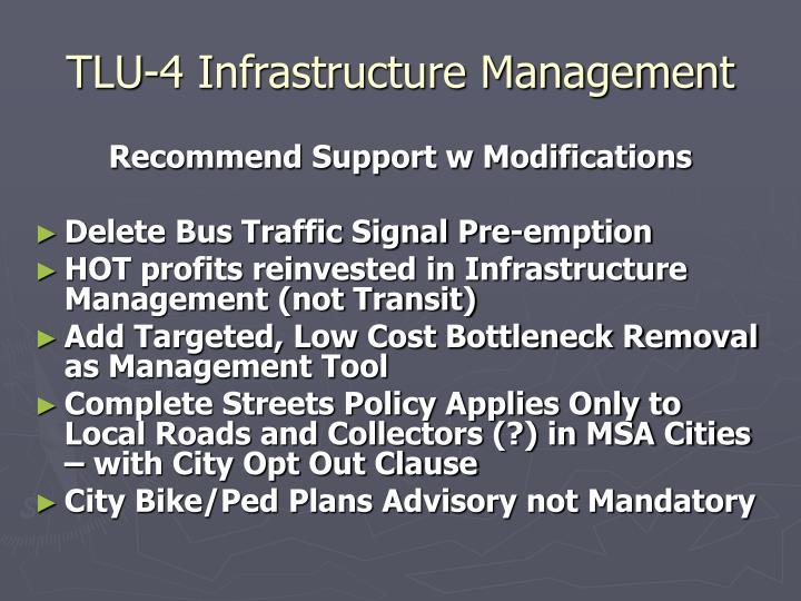 TLU-4 Infrastructure Management