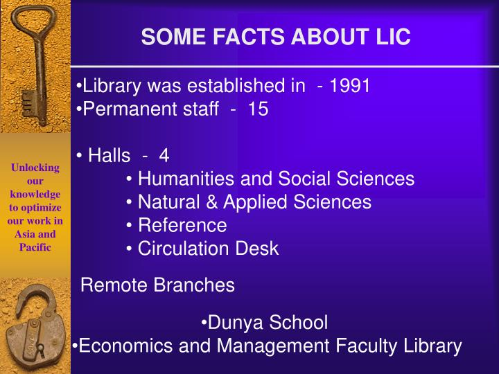 SOME FACTS ABOUT LIC