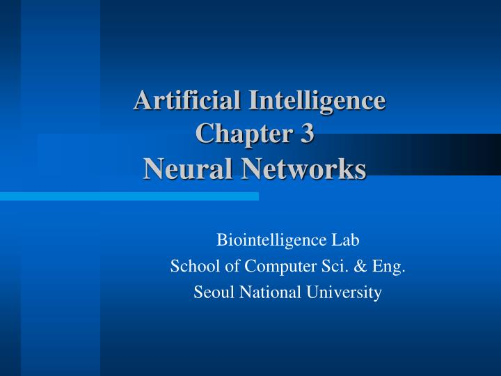 artificial intelligence chapter 3 neural networks n.