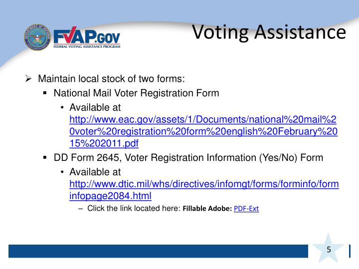 Voting Assistance