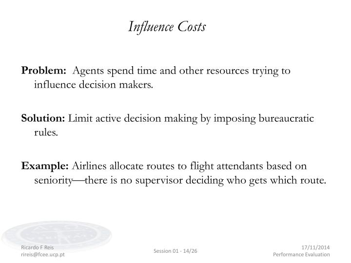 Influence Costs
