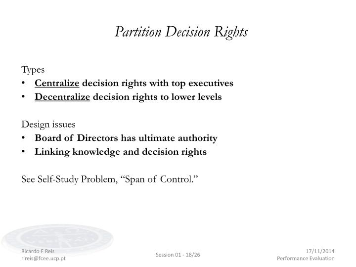 Partition Decision Rights