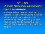 api 1104 changes requiring requalification