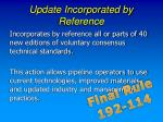 update incorporated by reference