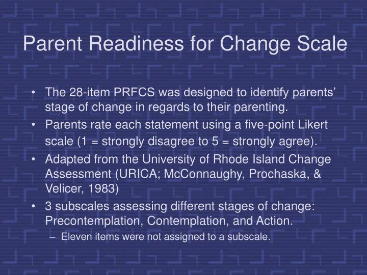 Parent Readiness for Change Scale