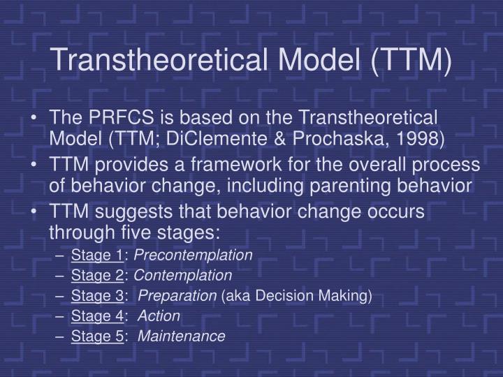 Transtheoretical Model (TTM)