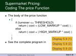 supermarket pricing coding the price function