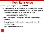 1 fight resistance