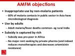 amfm objections