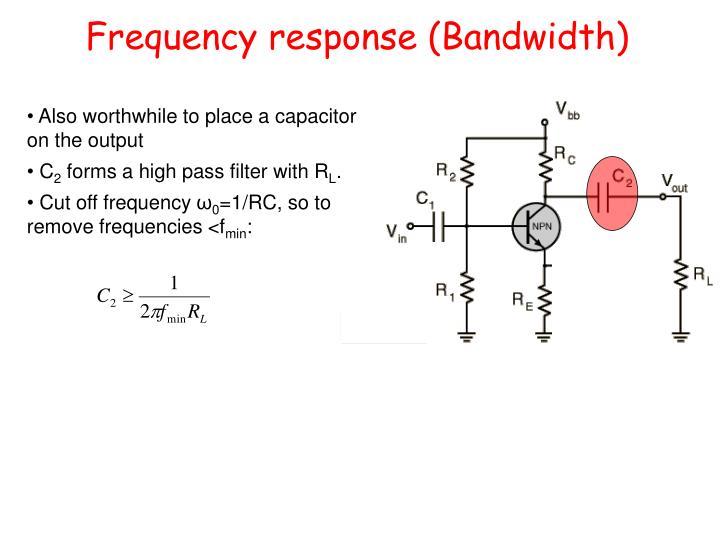 Frequency response (Bandwidth)
