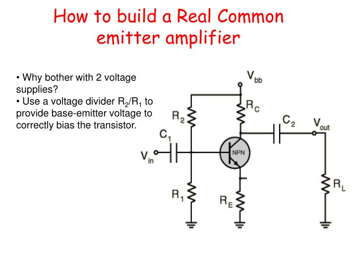 How to build a Real Common emitter amplifier