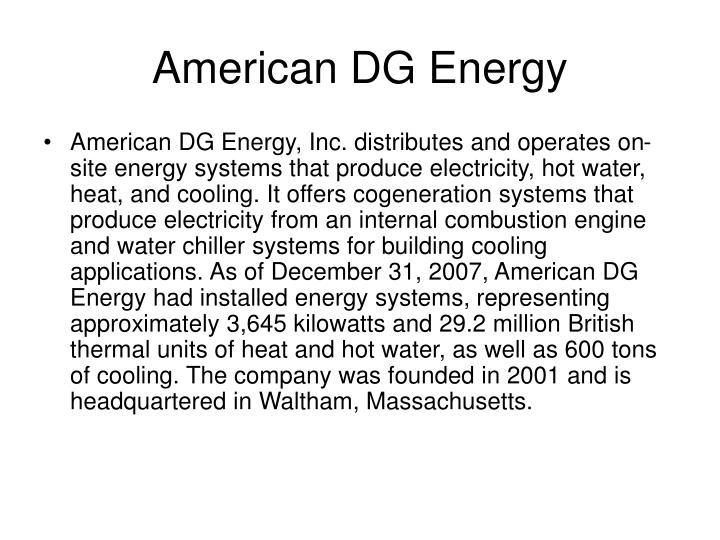American dg energy