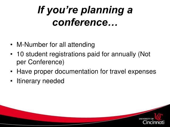 If you're planning a conference…